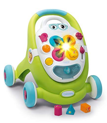 Smoby 110428 Cotoons 2in1 Lauflernwagen & Spielstation, Steckspiel, für Kinder ab 12 Monaten, Mehrfarbig