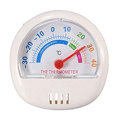 Tree-on-Life Haushalt Kühlschrank Thermometer Halbbild Gefrierschrank Thermometer Indoor und Outdoor Zeigerthermometer - Weiß
