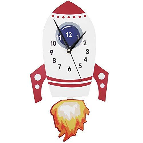 Reloj de péndulo - niños Infantil Reloj para Pared Reloj de Pared Mudo de Dibujos Animados para niños Reloj de decoración de Dormitorio Infantil de péndulo
