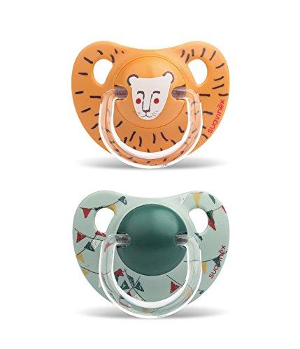 Suavinex 303894 Sucette Physio Lion/Petits Drapeaux 2 Pièces