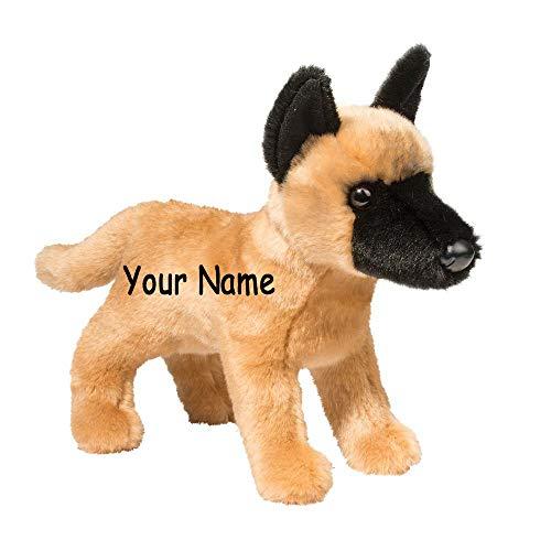 Personalized Klaus Belgain Malinois Dog Plush Stuffed Animal Toy with Custom Name