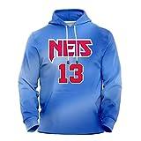 James Harden Brooklyn Nets 13 James Sermen Basketball Foodie男性 2021ニューシーズンブルックリンネット13#市版バスケットボルー 長袖ファッションセータープルオーバー(XS-2XL) Harden2-XXL