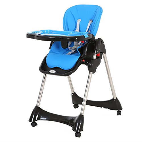 Affordable HGNbb Multi-function foldable baby high chair, blue portable can lie baby highchair chicco (size: 57 76 82cm)