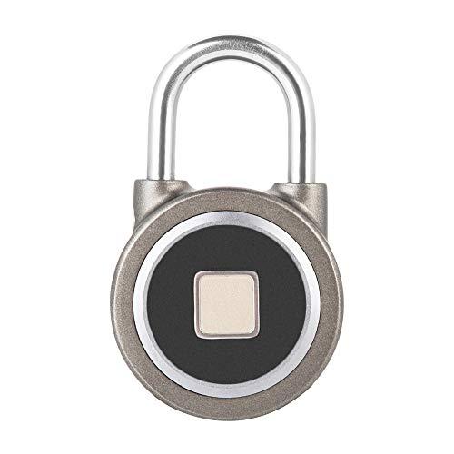 Candado Inteligente, Huella Dactilar, Inteligente, sin Llave, Impermeable, con Bloqueo Bluetooth, Control de Aplicaciones, Seguridad para Sistema Android e iOS, candado antirrobo para Puerta d