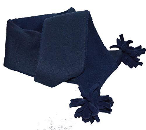 mein-name Bufanda infantil para el cuello, bufanda de peluche para niños y niñas, marine, talla única