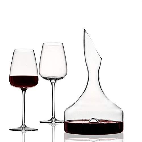 Decantadores de Vino, Cristal Soplado A Mano, Set de Regalo de Vino con Decantador Aireador y Copas de Vino, Accesorios de Vino, Cocina Familiar Restaurante para Fiestas de Bodas,1