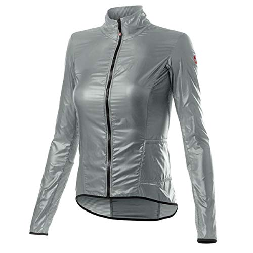 castelli Aria Shell W - Chaqueta Deportiva para Mujer, Mujer, 4520089, Silver Gray, S
