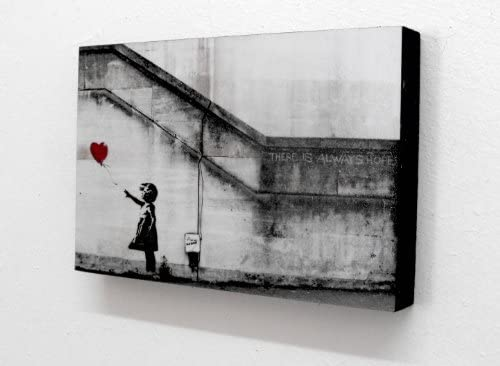 Banksy Balloon Girl There Is Always Hope 6 X 4 Block Mounted Print postcard size product image