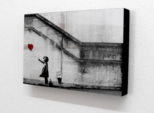 Banksy Balloon Girl There Is Always Hope 6 X 4 Block Mounted Print (postcard size) by Totally Graphics