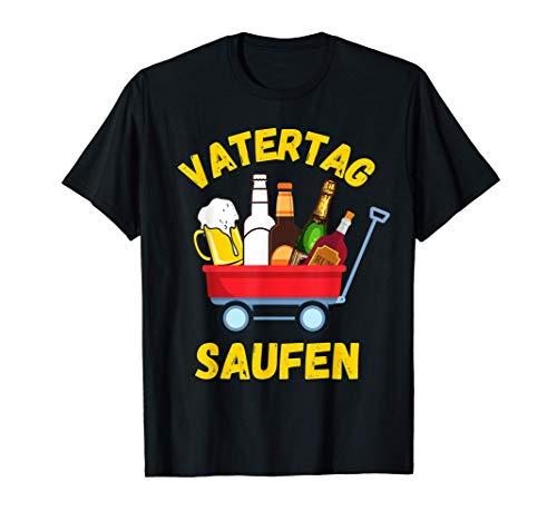 Herren Vatertag Bollerwagen Sauf Motiv für die Trink-Gruppe T-Shirt