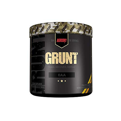 Redcon1 Grunt, All 9 Essential Amino Acid Powder (EAA). Pre and During Workout EAA's Supplement Suitable for Men, Women and Athletes - 30 Servings (Pineapple Banana)