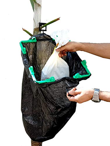 Find Discount BagEZ Hanging Trash Bag Holder -Hang Recycling Bags to Make Waste Disposal Easy Hang H...