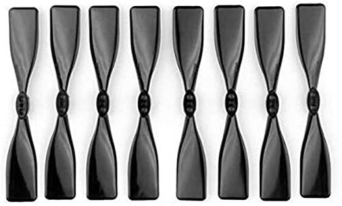 DNKKQ 4 Paia di eliche quadrate da 3 Pollici CW CCW 3 'eliche Nere per 1104 1106 Motore brushless 130 150 Pezzi di Ricambio per Drone FPV Stabilità