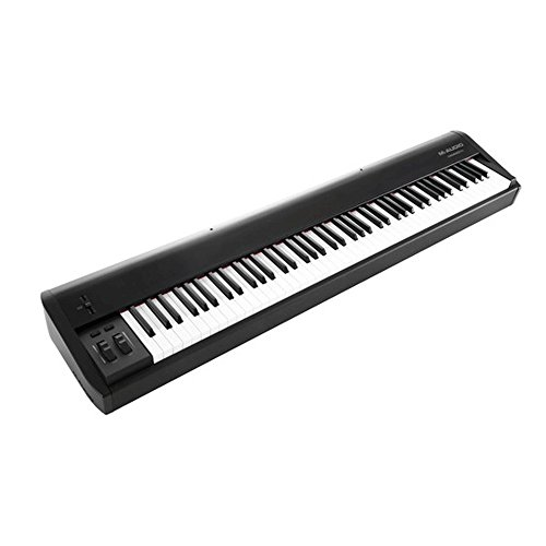 M-Audio Hammer 88 Key Hammer-Action USB MIDI Keyboard Controller + On Stage Pedal + Gator 88 Note Keyboard Gig Bag + Hosa MID-503 Serviceable 5-Pin + OP/TECH USA 8-inch Strapeez - TOP M-AUDIO KIT!