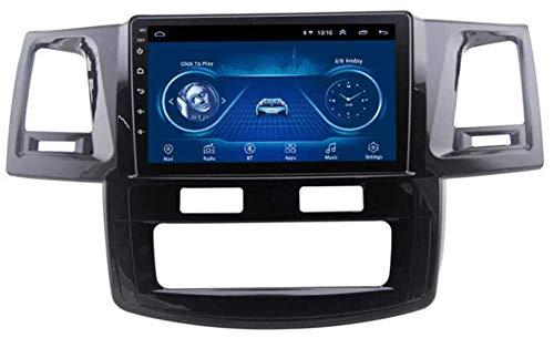 Android 9.0 para Fortuner Hulix 2007-2015 Coche Stereo, Pantalla táctil de 1080p Radio de automóvil GPS Navegación/Bluetooth/FM/MirrorLink Player USB