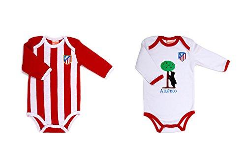 Pack 2 Bodys manga larga bebé Atletico de Madrid equipación - 24Meses