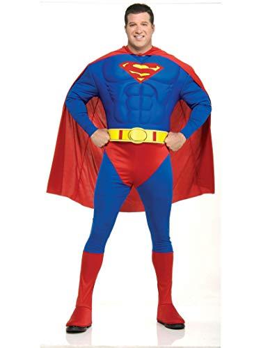 Rubie's-déguisement officiel I-888016L Superman Costume Adulte Classique, L