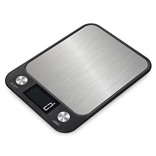 HULUWA Edelstahl-Digital-Küchenwaagen-Elektronische Kochwaagen-Appliance für zu Hause, Lebensmittel mit präziser Präzision wiegen, 5kg / 10kg Zwei Optionen, 7 Maßeinheitenumrechnung