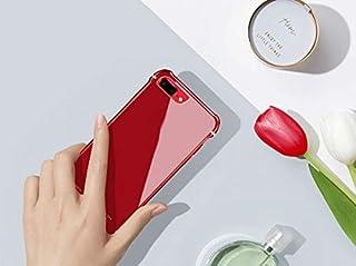 Truda Carllyl 美しい電話ケース場合、Iphone 8のための緩和されたガラス電話箱Iphone 8のためのちり止めの滑り止めの裏表紙 (Color : Red)