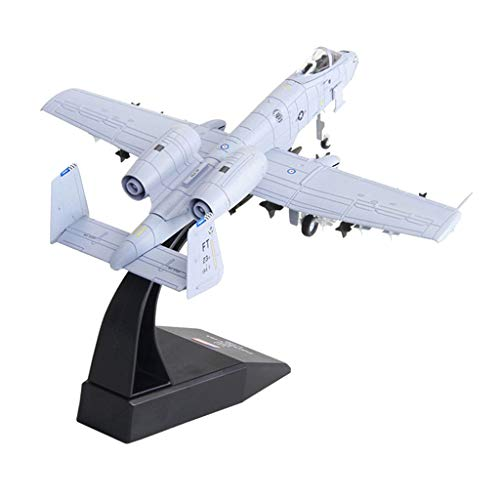 IPOTCH Diecast Airplane USA A-10 Warthog Attacker Modelo De Avión Regalo De Decoración Coleccionable, Escala 1/100, 6.5 X 6.9 X 4.7 Pulgadas