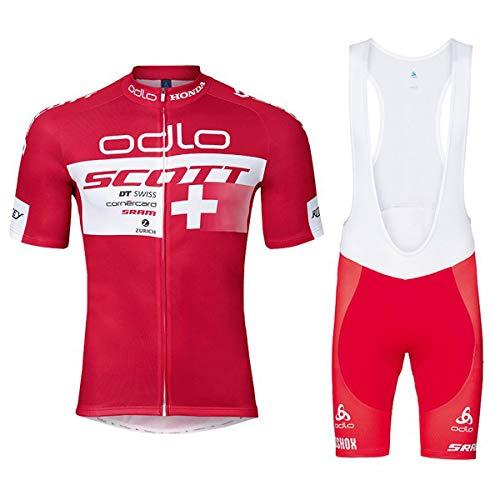 Wangmm Conjunto de Ropa de Ciclismo para Hombre, Maillot Ciclismo Corto y...