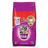 Ração Whiskas Carne e Leite Para Gatos Filhotes 3 kg