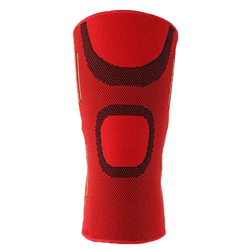 Demarkt Knieschoner Kniebandage Knieprotektor für Jogging Basketball mit hohe Elastizität Rot L
