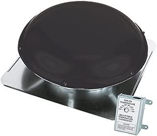 1,500-CFM Black Galvanized Steel Electric Power Roof Vent