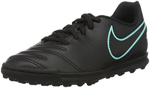 Nike Tiempox Rio III TF Fußballschuhe, Schwarz (Black/Black), 38 EU
