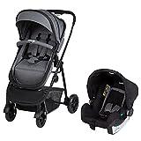 Safety 1st Silla de paseo 3 en 1, plegable con asiento convertible en capazo, incluye funda para lluvia y adaptador Maxi-COSI (3 en 1 + asiento para bebé), desde el nacimiento hasta 22 kg, negro Chic