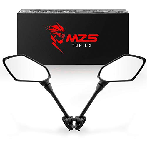 MZS Motorcycle Mirrors - Rear View Adjustment ABS Black Compatible with Ninja 650 EX650 2009-2017   ER-6F ER6F 2009-2015   Ninja 1000 Z1000SX 2011-2015