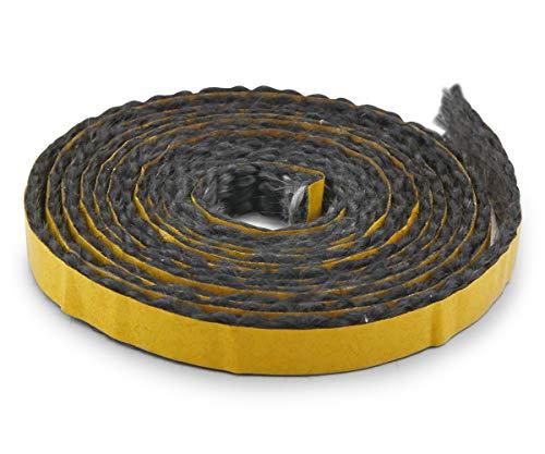 Kamindichtung selbstklebend 2m, ø 10x2mm Flach-Kordel Dichtband. Passend für verschiedene Haas+Sohn Kamin Modelle