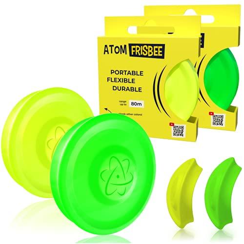 ATOMFRISBEE Frisbee - Disco Volador pequeño con Alcance de hasta 80 Metros, 2 Unidades