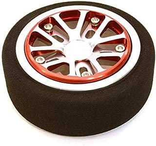 Integy RC Model Hop-ups C26897REDSILVER Billet Aluminum T3 Steering Wheel for Futaba 3PV 4PL S 4PV 4PX 4PX R 7PX Radios