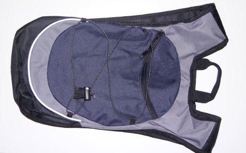 Slazenger Rucksack Backpack 600D (22 x 40 x 6 cm) schwarz - Navyblau