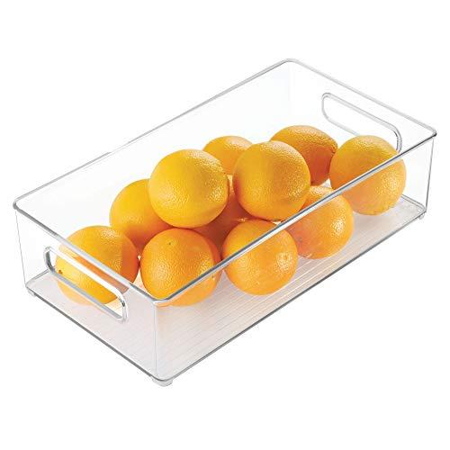 InterDesign冷蔵庫、冷凍庫ストレージオーガナイザーBin forキッチン L ホワイト 70530
