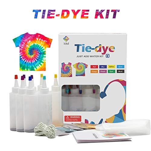 SmallPocket Tie Dye Kit Tulpe 18 Farbe Tulpen-Färbe-Set Stoff Textil Farben Tie Dye Kit DIY Fashion Dye Kit für helle Textilien Hemd Tischdecken (18 Farben Eingestellt)
