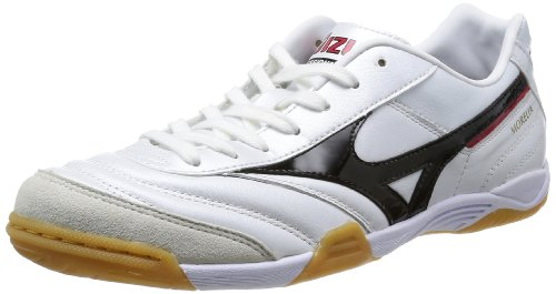 Mizuno Men's Morelia in 12KF35009 White/Black Futsal Shoe - 10 US