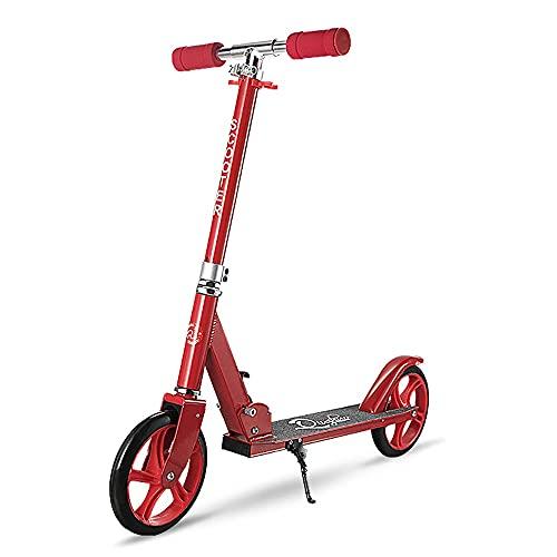 DODOBD Scooters Patinete de Ruedas Grandes 200mm para Adultos y Niños a Partir de 8 años Muy Duradera hasta 100 kg- Patinete Plegable de Ruedas PU con Manillar Ajustable en Altura,100 kg