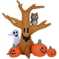 HOMCOM 7.5-ft Inflatable Haunted Tree Decoration