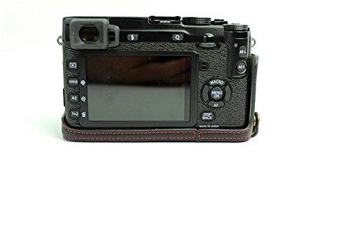 Zakao, Kameratasche / Schutzhülle für Fuji XE1, X-E1, XE2, X-E2, aus echtem Leder, halbe Öffnung unten, mit Holster & Handschlaufe