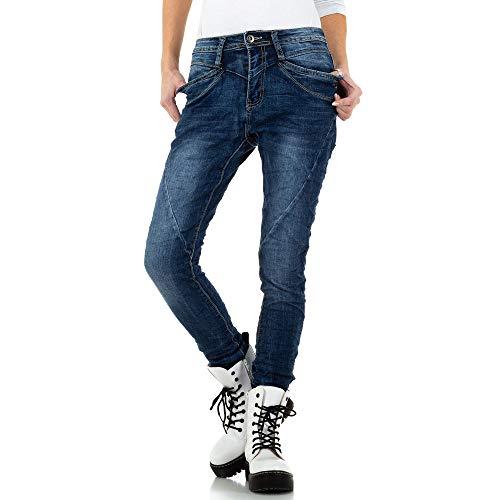 Ital-Design Boyfriend Skinny Jeans Place du Jour Gr. 34 Grau