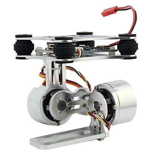 Hochwertiger bürstenloser Aluminium-2-Achsen-Steuerstecker für kardanische Kamerahalterung für Gopro 3 3+ Kameras für DJI Phantom Trex 500/550 Drohne Kein manuelles Quadcopter-Ersatzteilzubehör