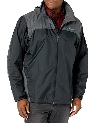 Columbia Men's Glennaker Lake Front-Zip Jacket, Black/Grill, 4X Tall