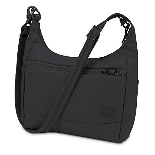 Pacsafe Citysafe CS100 Anti-Diebstahl Nylon Umhängetasche für Damen, Schultertasche mit...