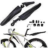 Guardabarros Bicicleta, Juego de Guardabarros Ajustable, Ajustable Guardabarros de Bicicleta para 24/26/27,5/29 pulgadas, Bicicletas de Carretera, MTB