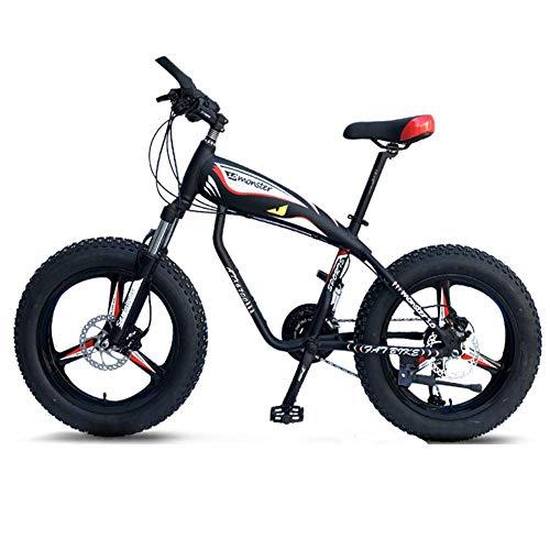 Wghz Bicicletas de montaña de 20 Pulgadas, Bicicleta de sobremarcha de 30 velocidades con Cubierta de Grasa, Bicicleta de montaña rígida con Marco de Aluminio para niños con suspensión Delantera,