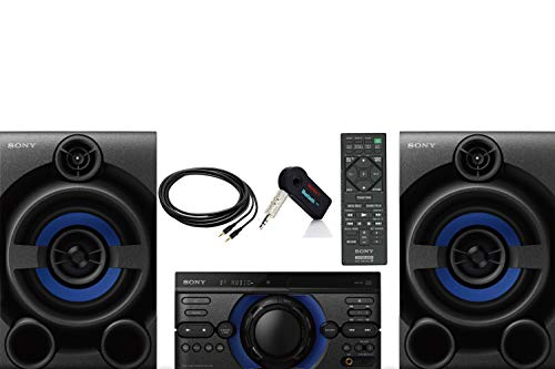 Sony High Power Bluetooth Stereo Home Audio Speaker System with USB Port for MP3 Playback, Audio in for Digital Players, AM/FM Tuner, Includes NeeGo Bluetooth Receiver, NeeGo 3.5MM AUX Cord and Remot