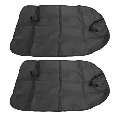 Gedourain Asiento de Coche Ligero Kick Mat Impermeable 2 Piezas Impermeable Cubierta de Asiento de Coche portátil para Viajes