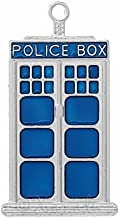 Doctor Who Blue Police Box Tardis Wholesale 50mm Charms Jewelry Making Supply Pendant Bracelet DIY Crafting by Wholesale Charms (5 pc)